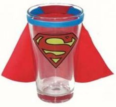 Shot glass with cape (Saw this and thought of my friend John S.)