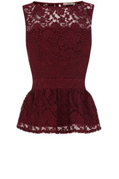 My two favourite things 1. Peplum 2. Maroon colour