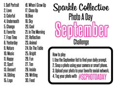 Photo A Day Challenge List: September