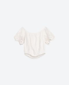 Image 8 of EMBROIDERED LINEN TOP from Zara