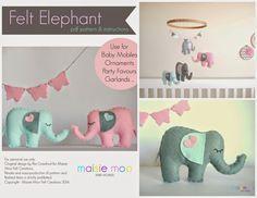 Maisie-Moo Handmade Felt Creations: Felt Elephant Pattern - One month on!