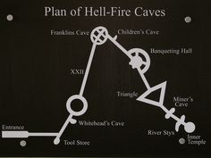 Plan of Hell Fire Caves, Wycombe, including the Ben Franklin Cave.