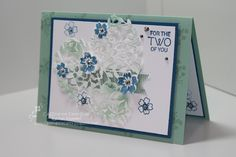 Rachel Palmieri: Stampin' Pals: Love & Sympathy - CTC84 - 6/26/16.  SU-Bloomin' Love/ Bloomin' Heart thinlit; Your Perfect Day (sentiment).   (Pin#1: Anniversary/ Wedding.  Pin+: Valentines: SU-3D/ Dies...).