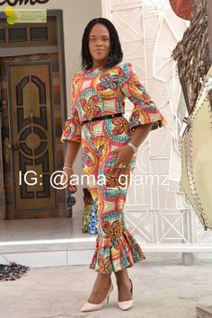 Ankara Jumpsuit/ African Print/ Bell Sleeves/ Ankara Dress/ Quality fabric/ Women's Style