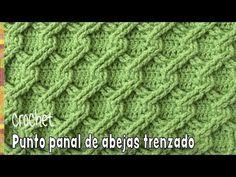 Punto panal de abejas 3D trenzado tejido a crochet - Tejiendo Perú - YouTube Crochet Stitches Patterns, Knitting Stitches, Stitch Patterns, Knitting Patterns, Crochet Cable, Tunisian Crochet, Crochet Motif, Knitting Videos, Crochet Videos