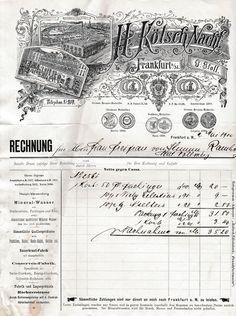 6xxxx Frankfurt/Main - H. Kölsch Nachf. G. Stoll. Mineralwasser. 1900 (Hist. Rechnungen) - Die Bücher-Berg - Preiswerte Bücher für Leser und Sammler