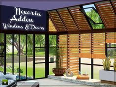Built up a dream home for your simmies. This windows, doors and blinds will make it possible! *Nexoria Windows and Doors* - A dream of glass, wood and metall. Just like you want it - built up in. Sims 4 Windows, Sims 4 Tsr, Sims New, Sims 4 Anime, Muebles Sims 4 Cc, Sims 4 Bedroom, Sims 4 Clutter, Sims 4 Gameplay, Casas The Sims 4