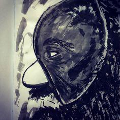 #inktober2016 #inktober #sketchbook #elder #beard #mask #originalcharacter #brushpen #fastdrawing