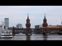 Without a doubt my favorite bridge in Berlin: Oberbaumbrücke. Built in the bridge crosses the Spree River and connects the lively neighborhoods Kr. Berlin, Finding Peace, Barcelona Cathedral, The Neighbourhood, Tourism, Bridge, River, Search, Videos