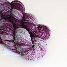 Shae - Hand Dyed Yarn - Sock Yarn - Fingering Weight - Purple and Gray - Variegated - Game of Thrones Yarn by ToilandTrouble on Etsy https://www.etsy.com/listing/153770028/shae-hand-dyed-yarn-sock-yarn-fingering