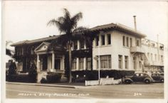 Masonic Temple Fullerton California USA Real Photo Postcard 1930  The building is still there on Harbor & Chapman.