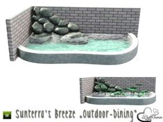 Part of the *'Sunterra's Breeze' Outdoor* Found in TSR Category 'Sims 3 Sculptures' Sims 3, Sims 4 Tsr, The Sims 4 Pc, Sims 4 Game Mods, Sims 4 Mods, Muebles Sims 4 Cc, Sims 4 Kitchen, Outdoor Ponds, Casas The Sims 4