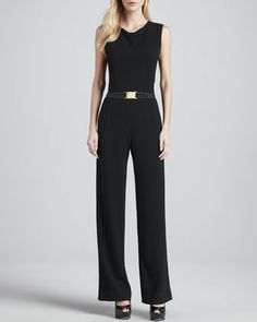 Sleeveless Knit Jumpsuit, Black by Haute Hippie at Neiman Marcus.