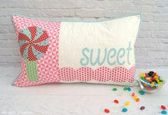 Sweet Treats PDF Mini Quilt/Cushion Set by tiedwitharibbon