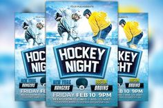 Ice hockey flyer template 2 by flyerheroes on creativework247 hockey night flyer template maxwellsz