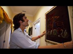 Tyson Ritter from All-American Rejects had quite the collection of, um, unique art Tyson Ritter, Hot Emo Guys, Velvet Painting, Mtv Cribs, Celebrity Houses, Unique Art, American, Celebrities, Collection