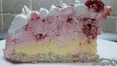 Epres-málnás pudingos torta Vanilla Cake, Food, Essen, Meals, Yemek, Eten