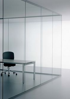 Vision, glazed wall partition range by CCS Citterio Sound System _