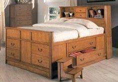 DIY King Size Captains Bed With Drawers Plans Download woodworking router tables