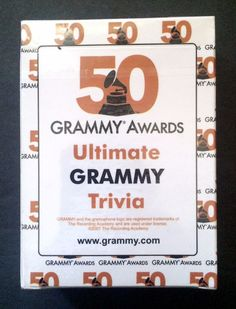 #Grammy Awards Ultimate Trivia Music Game Cards 50th Anniversary 2007 New Sealed
