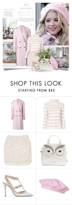 """""""The New Cool: Beret"""" by thewondersoffashion ❤ liked on Polyvore featuring Ermanno Scervino, MaxMara, Giambattista Valli, Kate Spade and Valentino"""