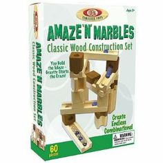 Amazon.com: Ideal Amaze N Marbles 60-pc. Construction Set toy gift idea birthday: Toys & Games