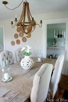 From My Front Porch To Yours- How I Found My Style Sundays-Coastal Dining Room - Summer Farmhouse Tour - @Nest of Bliss