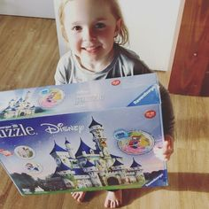 """Roberts Family on Instagram: """"Who's been making Disney Puzzles!? Tess would love to see them! Tess loved building this Ravensburger Disney 3D Castle. It's 216 Pieces…"""" Disney Puzzles, Adventures By Disney, Disney Toys, Castle, 3d, Building, How To Make, Instagram, Buildings"""