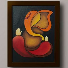 Small Canvas Paintings, Modern Canvas Art, Mini Canvas Art, Indian Art Paintings, Canvas Painting Designs, Lord Ganesha Paintings, Ganesha Art, Rajasthani Art, Canvas Art Projects