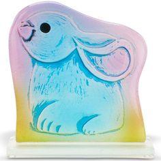 Art Glass Fused Bunny Figurine By Lenox