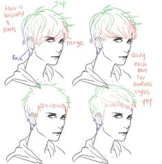 cool light dark hair/ hairstyles ✤ || CHARACTER DESIGN REFERENCES...