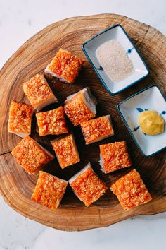 Cantonese Roast Pork Belly, or siu yuk can be found hanging in many Chinatown restaurant windows but you can make this crispy pork belly recipe at home with this easy to follow recipe