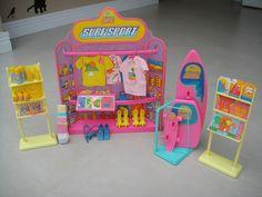 Loja De Surf Sport Da Barbie +brinde -anos 80-estrela Antiga - R$ 125,90 no MercadoLivre