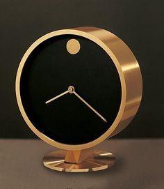 Resultado de imagen de Atomic Metal Wall Clock in Aqua and Gold