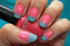 Pink and blue =)