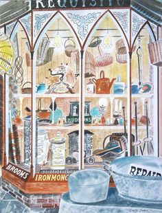 One of the new pieces of work Emily Sutton will be exhibiting at York Open… Illustrations, Illustration Art, Drawing Sketches, Drawings, Sketching, Naive Art, Cool Art, Awesome Art, Shop Fronts