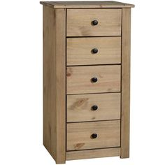 Panama 5 Drawer Narrow Chest Natural Wax Oak Solid Pine Bedroom Furniture in Home, Furniture & DIY, Furniture, Chests of Drawers 5 Drawer Chest, Chest Of Drawers, Alberta Canada, Honduras, Uganda, Jamaica, Oklahoma, Pine Bedroom Furniture, Diy Furniture