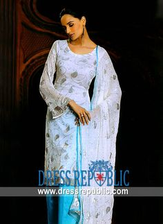 Off White Marion, Product code: DR4640, by www.dressrepublic.com - Keywords: Shalwar Kameez Online 2011, Salwar Kameej Online, Salwar Qameej, Salwar Kamiz Online
