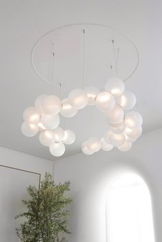 Where and How Chandelier Pearl Chandelier, Luxury Chandelier, Chandelier Lighting, Chandeliers, Custom Lighting, Cool Lighting, Lighting Design, Mathieu Lehanneur, Ceiling Lamp