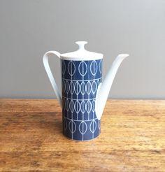 Teapot art deco ' 50s vintage tea  pot retro by MaisonValiere