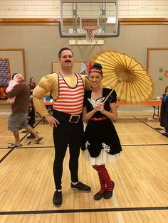 Lil'Bit Beth: Circus Halloween: Strongman and Tight Rope Walker