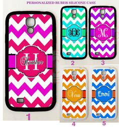 RED PINK CORAL CHEVRON MONOGRAM PHONE Case For Samsung Galaxy S7 S6 S5 NOTE 5 4 #UnbrandedGeneric