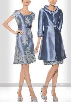 Vestido de madrina corto de Teresa Ripoll modelo 6150 by Teresa Ripoll | Boutique Clara. Tu tienda de vestidos de fiesta.