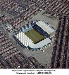 Former Maine Road, Manchester City Ground, from the air