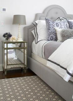 Restful gray and white bedroom