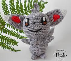 Un adorable Pokémon chinchilla réalisé en Amigurumi à partir du modèle de Sabrina Somers.
