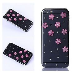 DIY Luxuriant Eight Blooms with Rhinestone Cool Case Cover for iPhone 6 iPhone 6 Plus