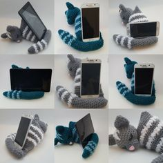 Make an Adorable Stand to hold up any of your devices! Inspired by my silly children and their need to steal my phone, I put together a pattern to crochet a fun, stable, easy and cute stand, and now its available for you! Great for beginners. Crochet Home, Love Crochet, Crochet Gifts, Beautiful Crochet, Single Crochet, Crochet Stitches, Crochet Patterns, Crochet Phone Cover, Support Telephone