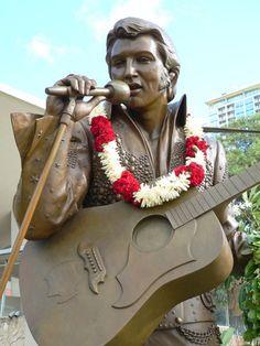 Elvis statue at Blaisdell Center, Oahu