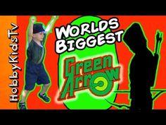 Worlds Biggest GREEN ARROW Egg Surprise Toy Bows + Blind Boxes Villains HobbyKidsTV - YouTube